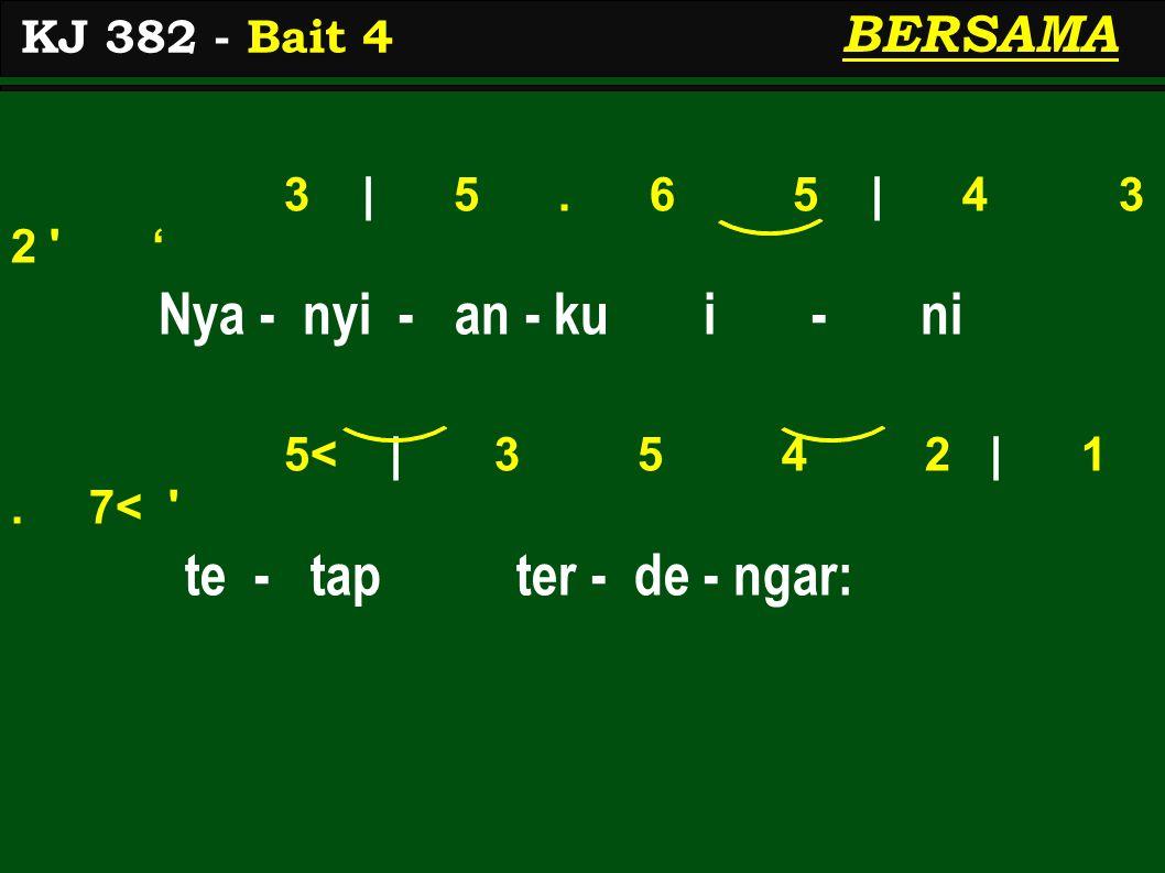 3 | 5.6 5 | 4 3 2 ' Nya - nyi - an - ku i - ni 5< | 3 5 4 2 | 1.
