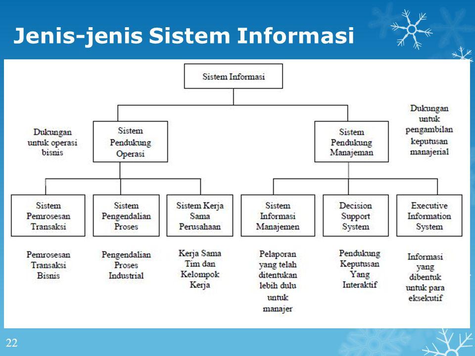 Jenis-jenis Sistem Informasi 22
