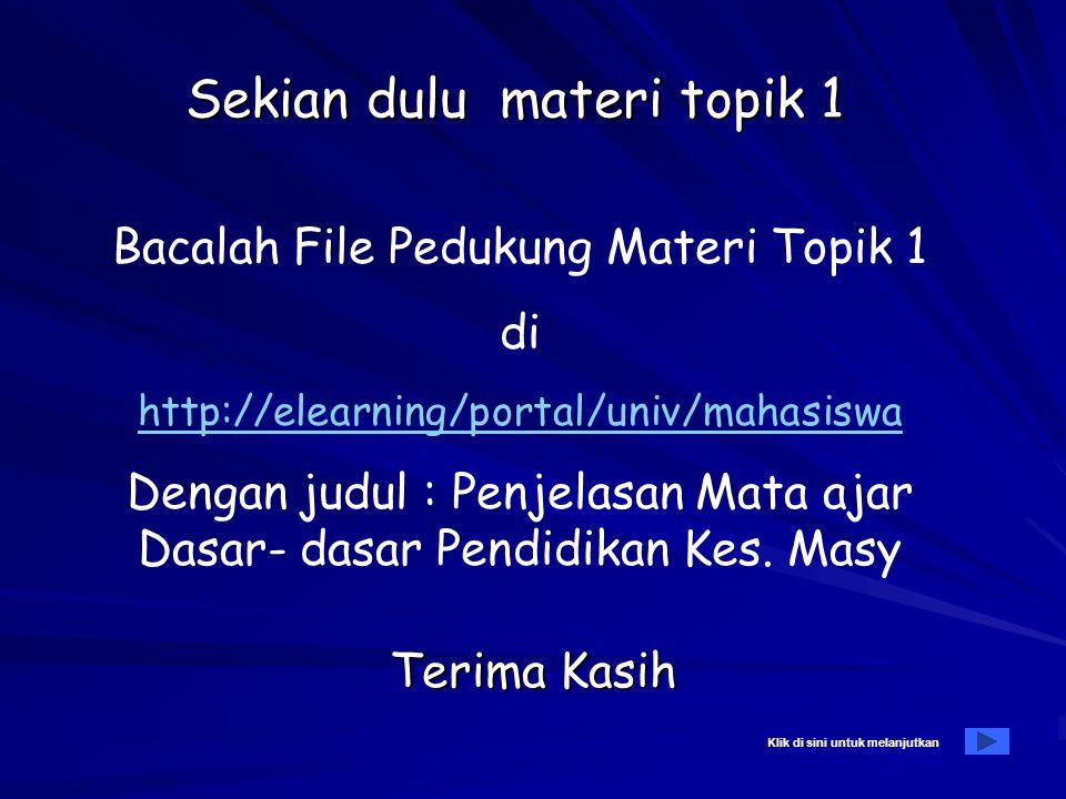 Daftar pustaka A. Wajib: –Notoatmodjo,Soekidjo, Pendidikan dan Perilaku Kesehatan, Jakarta, PT Rineka Cipta, 2003 –Machfoedz, Ircham dan Eko Suryani,