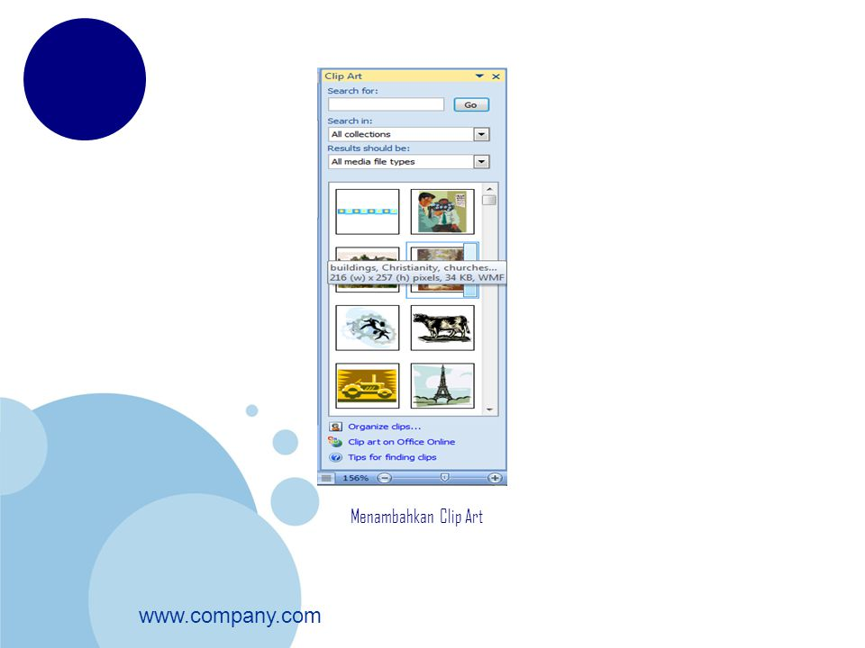 www.company.com Menambahkan Clip Art