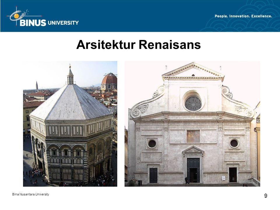 Bina Nusantara University 9 Arsitektur Renaisans