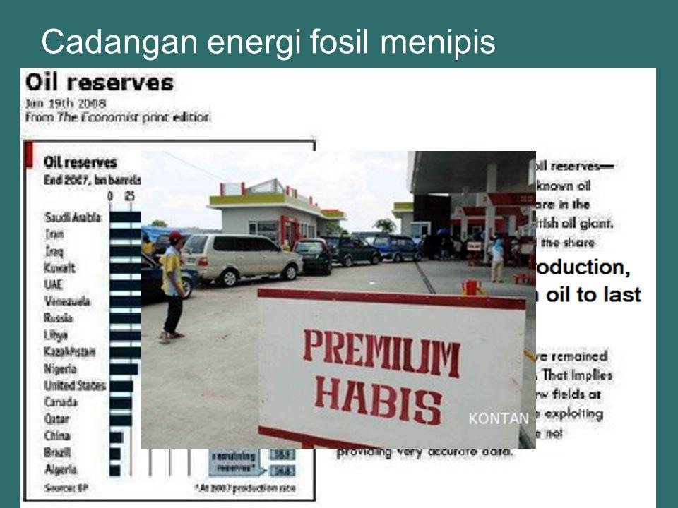 Cadangan energi fosil menipis