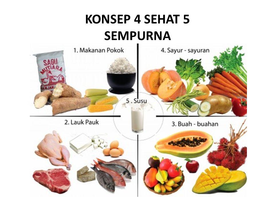 1.Makanan Pokok Berfungsi sebagai sumber karbohidrat.