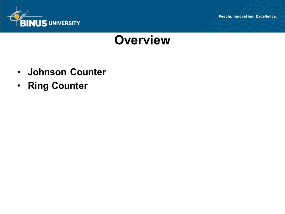 Overview Johnson Counter Ring Counter
