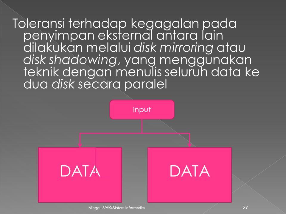 Minggu 8/AK/Sistem Informatika 27 DATA input