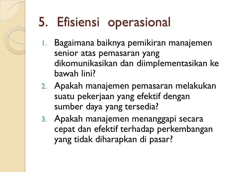 5.Efisiensi operasional 1.