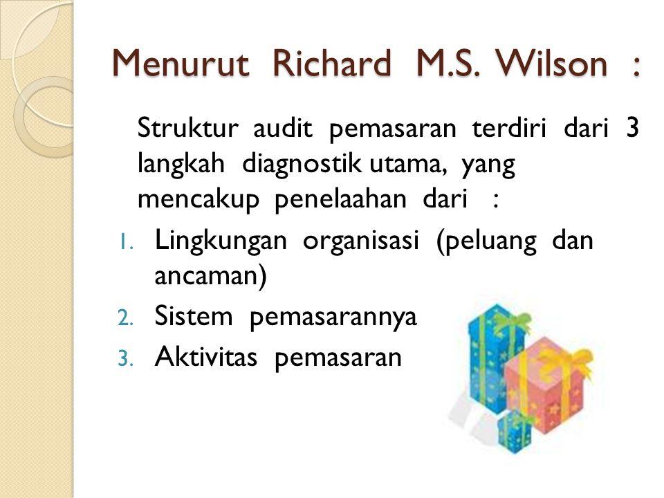 Menurut Richard M.S.