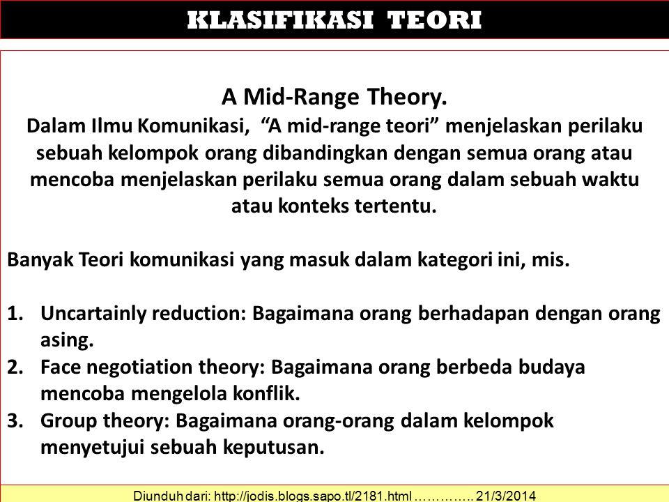 A Mid-Range Theory.