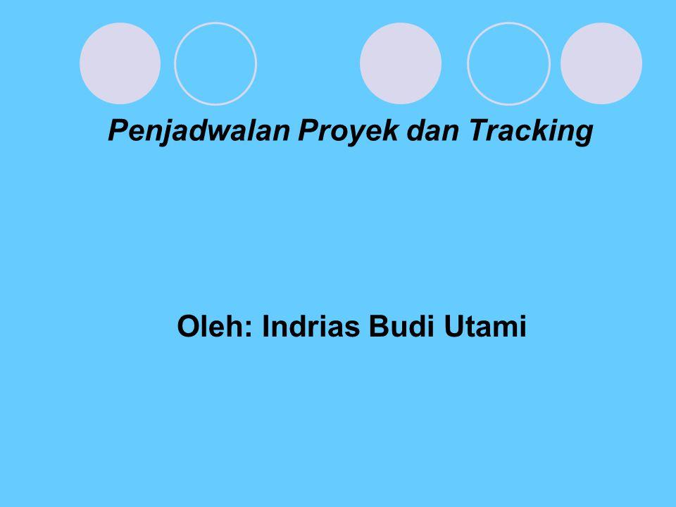 Penjadwalan Proyek dan Tracking Oleh: Indrias Budi Utami
