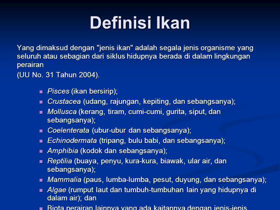 Definisi Ikan Yang dimaksud dengan