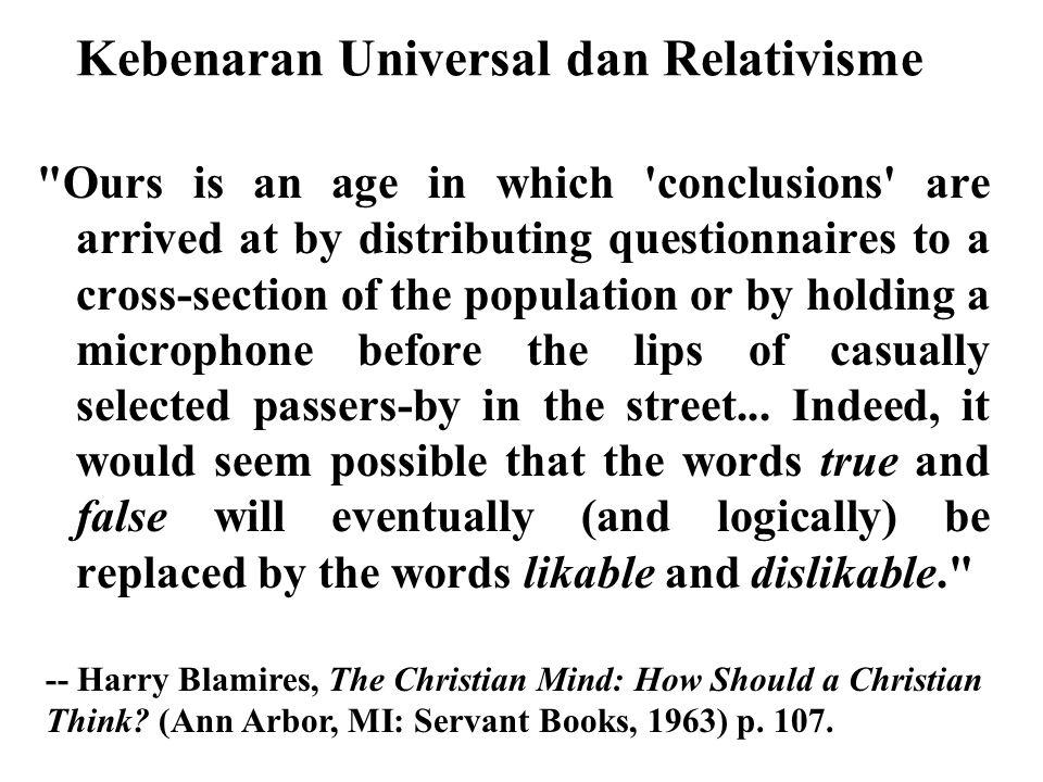 Kebenaran Universal dan Relativisme