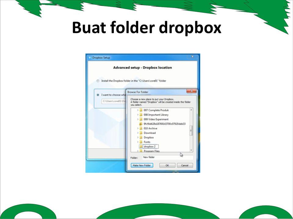 Buat folder dropbox