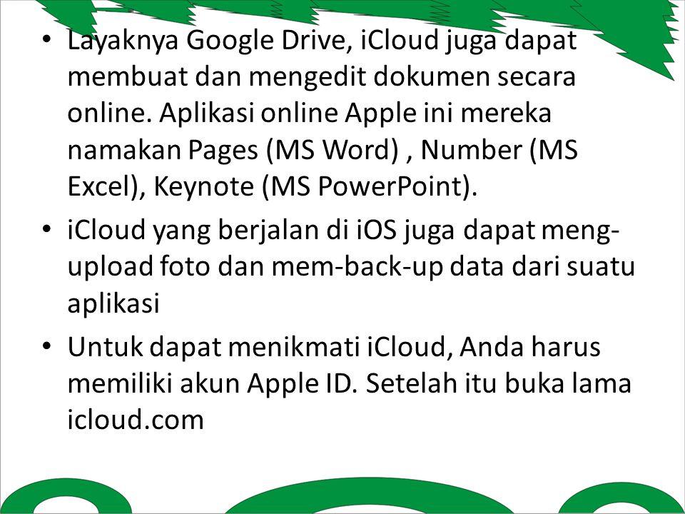 Layaknya Google Drive, iCloud juga dapat membuat dan mengedit dokumen secara online.