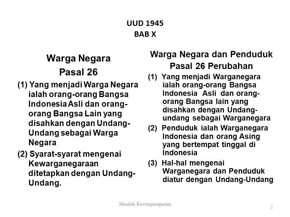 Sejarah Singkat & Asas-asas Kewarganegaraan RI 1.Sejarah Singkat UU Kewarganegaraan Indonesia 2.
