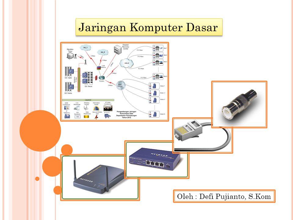 Jaringan Komputer Dasar Oleh : Defi Pujianto, S.Kom