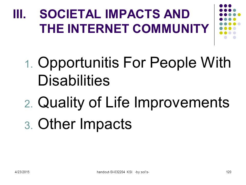 4/23/2015handout-SI-032204 KSI -by:sol s-120 1.Opportunitis For People With Disabilities 2.