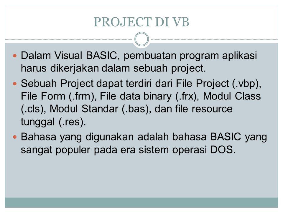 ActiveX Control Visual Basic memiliki kemampuan untuk dapat berinteraksi dengan aplikasi lain di dalam sistem operasi Windows dengan komponen ActiveX Control.