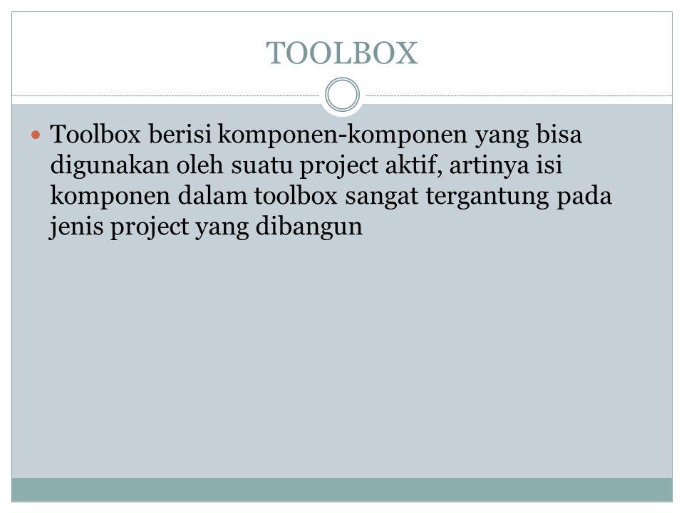 Komponen standar dalam Toolbox