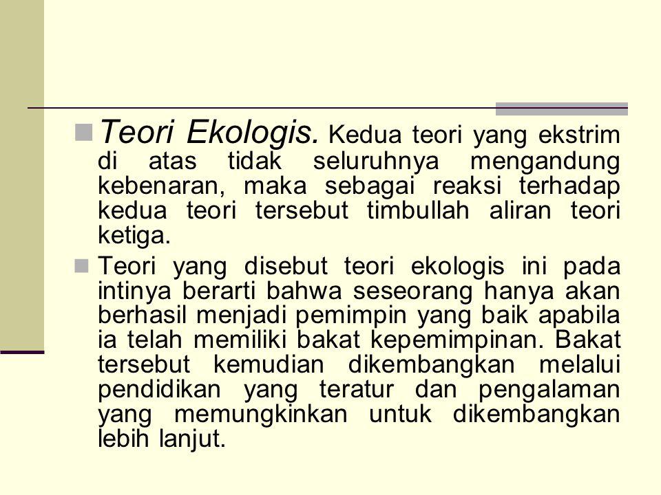 Teori Ekologis.