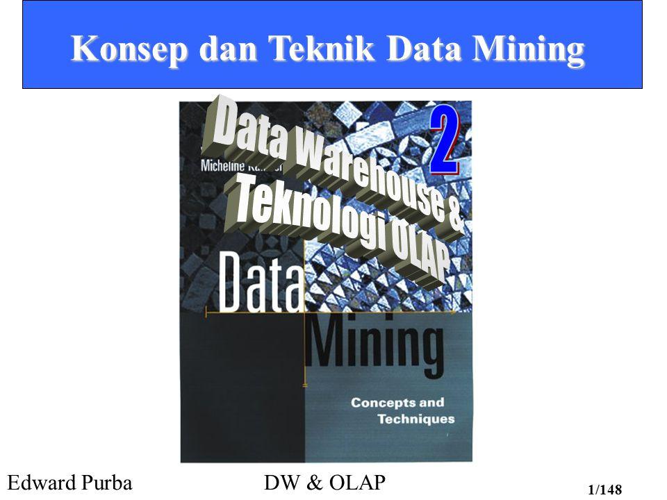 Edward PurbaDW & OLAP 1/148 Konsep dan Teknik Data Mining