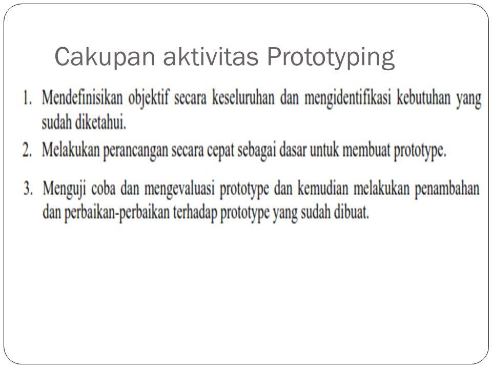 Cakupan aktivitas Prototyping