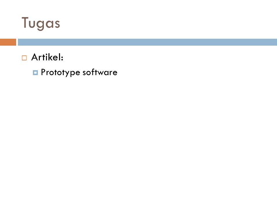 Tugas  Artikel:  Prototype software