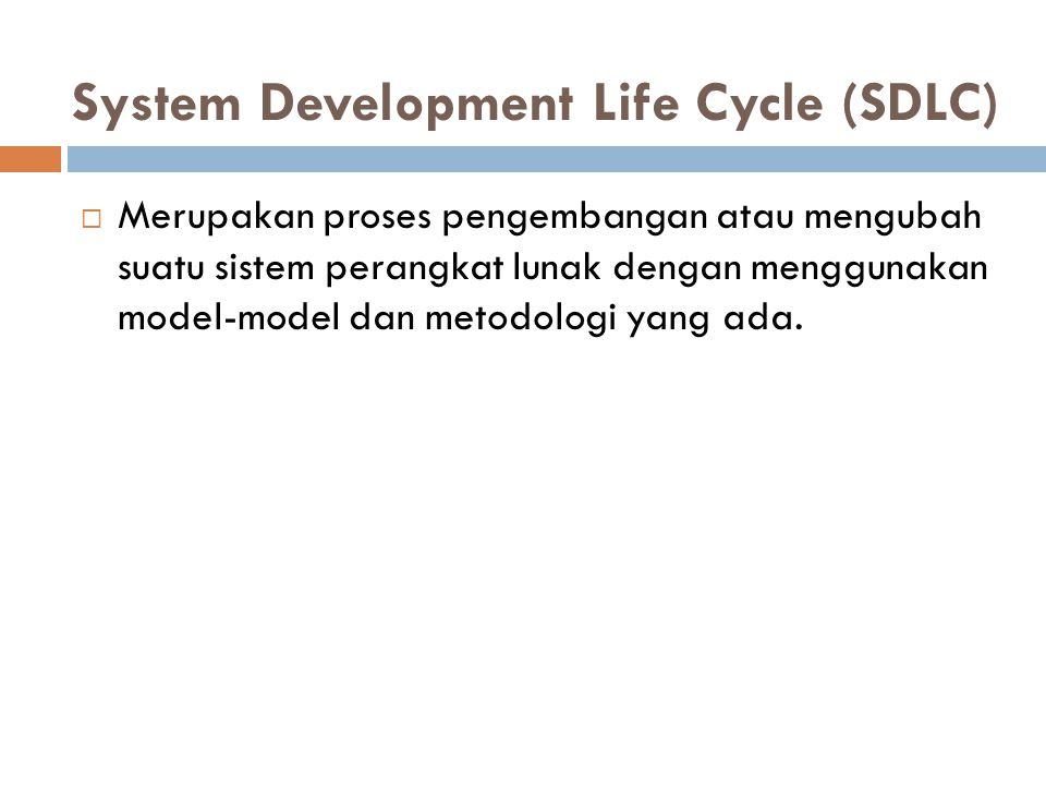  Merupakan proses pengembangan atau mengubah suatu sistem perangkat lunak dengan menggunakan model-model dan metodologi yang ada.
