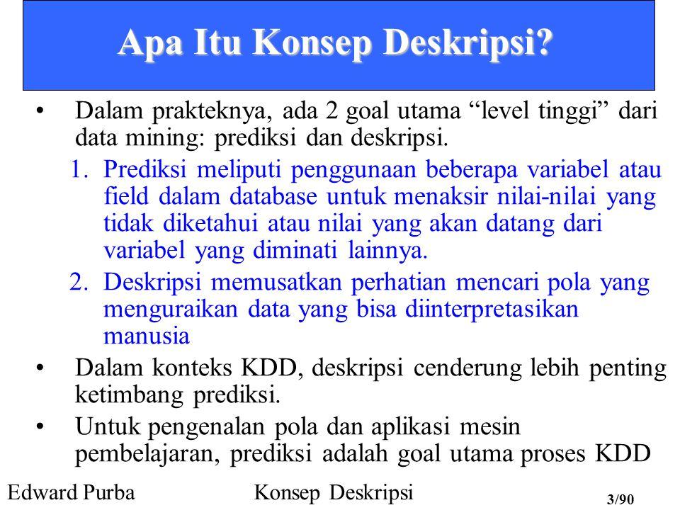 Edward PurbaKonsep Deskripsi 43/90 Presentasi – Crosstab