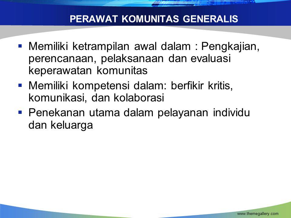 www.themegallery.com PERAN PERAWAT DI INDONESIA (Loknas.