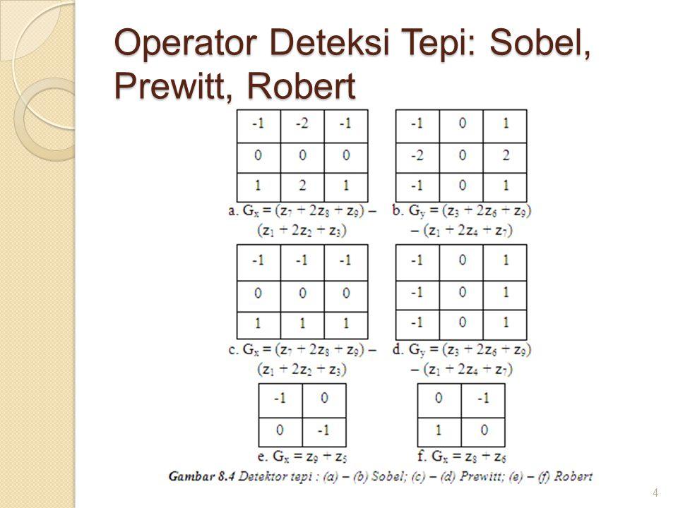 Operator Deteksi Tepi: Sobel, Prewitt, Robert 4