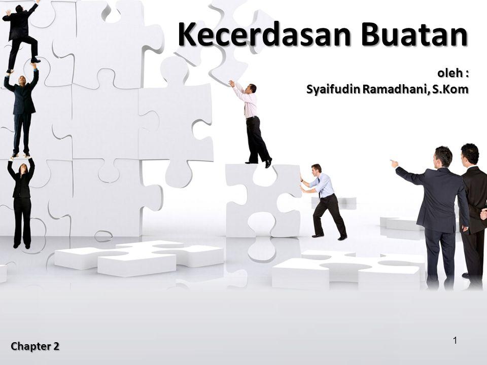 Kecerdasan Buatan oleh : Syaifudin Ramadhani, S.Kom Chapter 2 1