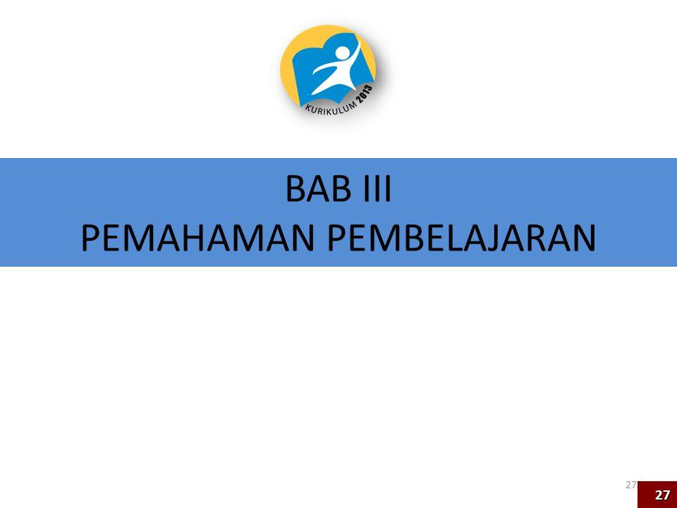 BAB III PEMAHAMAN PEMBELAJARAN 27 27