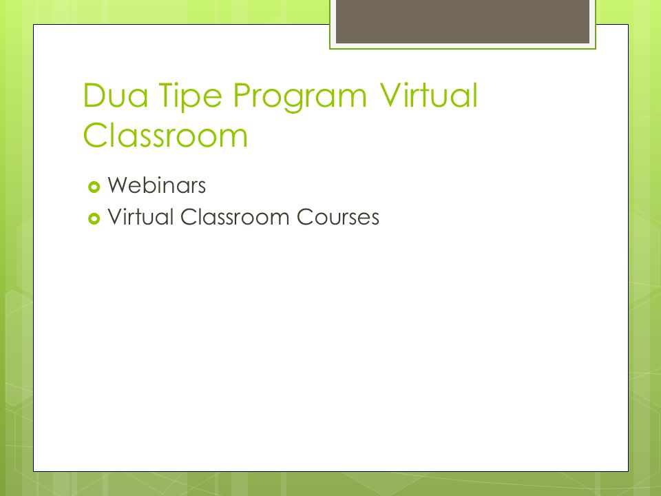 Dua Tipe Program Virtual Classroom  Webinars  Virtual Classroom Courses
