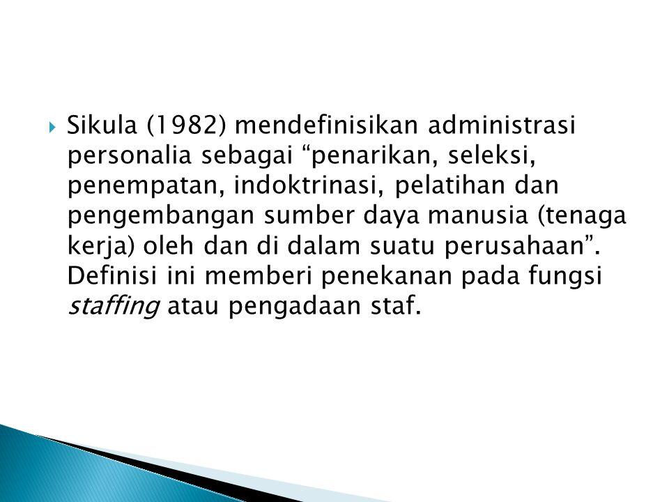  Menurut Cascio (1993), tujuan umum manajemen sumber daya manusia adalah untuk mengoptimalkan produktivitas semua pekerja dalam sebuah organisasi.