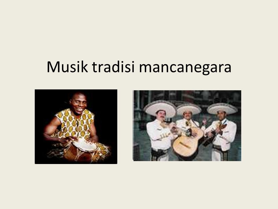 Musik tradisi mancanegara