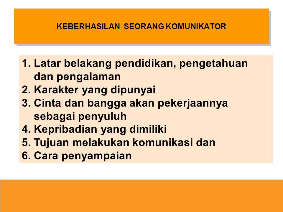 Kredibilitas seorang komunikator Menurut Soekartawi Kredibilitas Seorang Komunikator ditentukan oleh : 1. Titel yang dipunyai 2. Pangkat atau jenjang