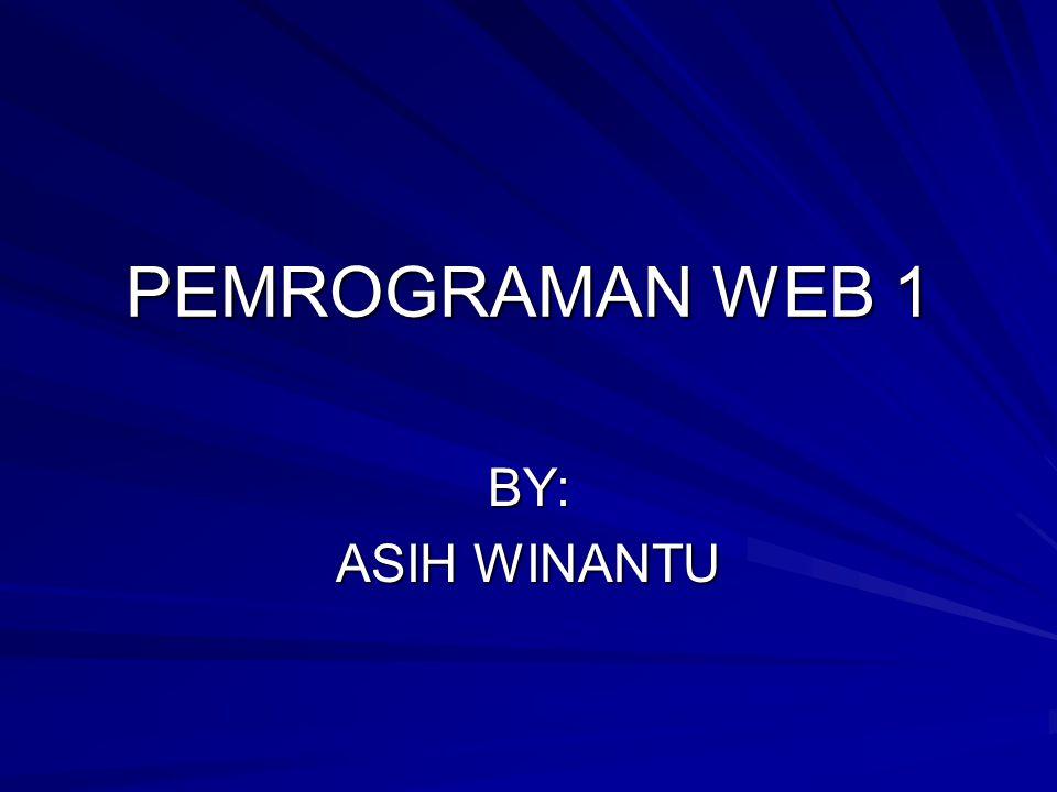 PENGENALAN HTML HTML >> hypertext markup language hypertext markup language