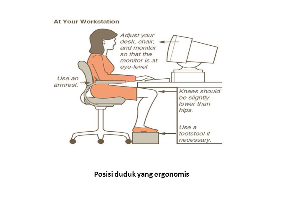 Posisi duduk yang ergonomis