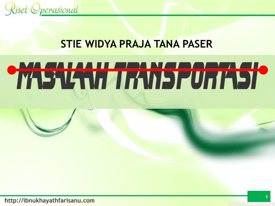S 1S 2S …S n T 1T 2T …T m MASALAH TRANSPORTASI 2