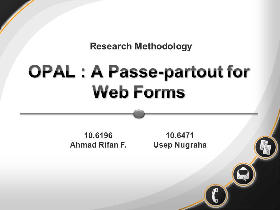 OPAL : A Passe-partout for Web Forms