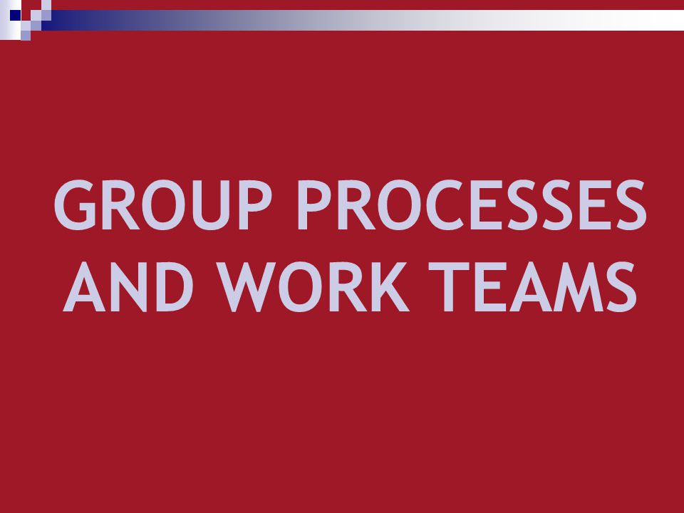 TYPES OF TEAMS Temporary team (exist for finite period) Works Groups (Leader make decisions For group member) Work teams (concerned with product Or services) Intact Teams (Work within own Specialty Area) Physical Teams (member are physically Present) Purpose or mission Time Degree of autonomy Authority structure Physical presence Improvement Teams (concerned with improving The effectiveness of processes) Permanent Teams (remain intact as long as The organization is in existence) Self-managed Work Teams (team members are free to Make their own key decisions) Cross-Functional Teams (team consisting of members From several different specialties) Virtual Teams (members meet via Electronic means)