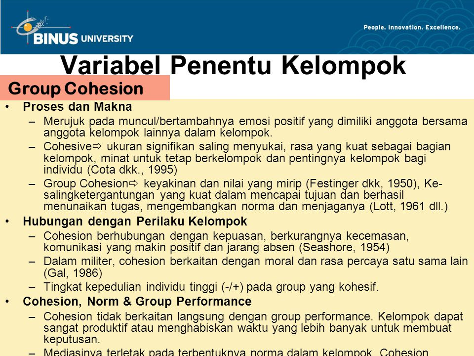 Proses Sosialisasi dalam Group Tuckman (1965) : five stages developmental sequences : 1.Forming 2.Storming 3.Norming 4.Performing 5.Adjourning