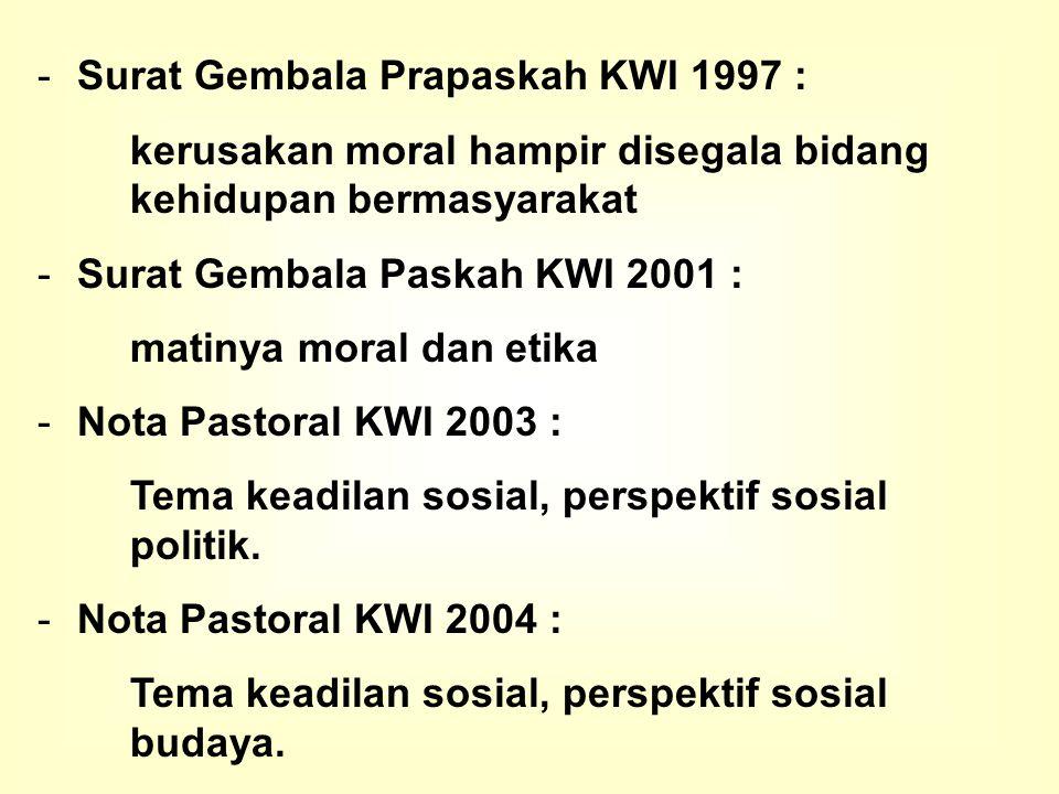 KEADABAN PUBLIK : MENUJU HABITUS BARU BANGSA Keadilan Sosial Bagi Semua : Pendekatan Sosiobudaya Nota Pastoral KWI, 11 November 2004