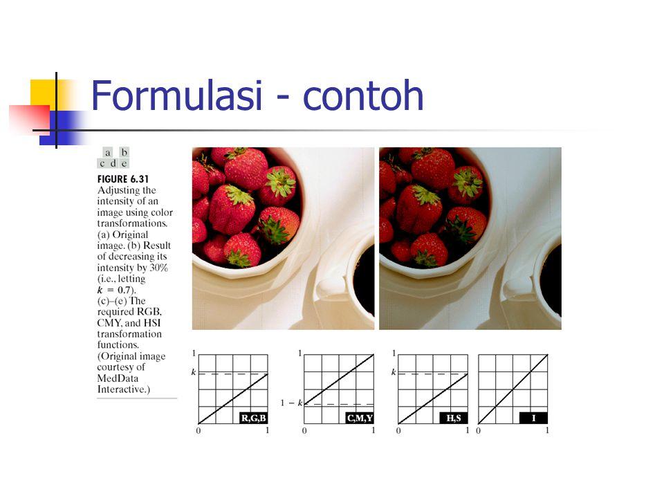 Formulasi - contoh