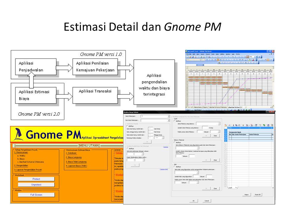 Estimasi Detail dan Gnome PM