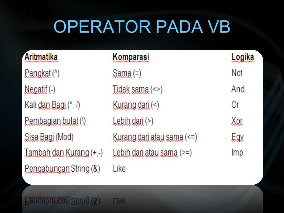 LIST BOX Fasilitas yang menyediakan daftar-daftar dari sebuah objek yang ditampilkan dalam bentuk list Bentuk Umum : Private Sub Form_Load() List1.AddItem nama_list_1 .....