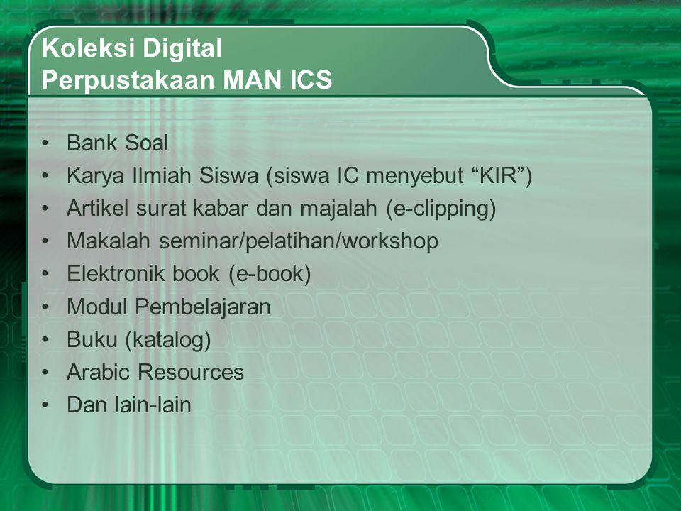 Berikut contoh koleksi digital kami