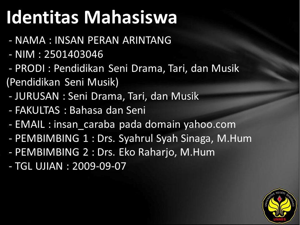 Judul Manajemen Produksi Kelompok Musik Radikal Corps di Semarang: Kajian Karya Musiknya