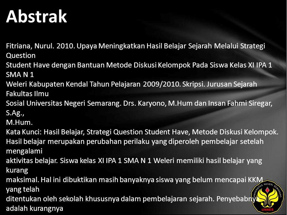 Abstrak Fitriana, Nurul. 2010.
