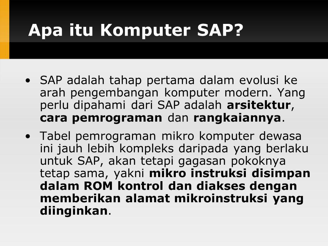 Apa itu Komputer SAP.SAP adalah tahap pertama dalam evolusi ke arah pengembangan komputer modern.